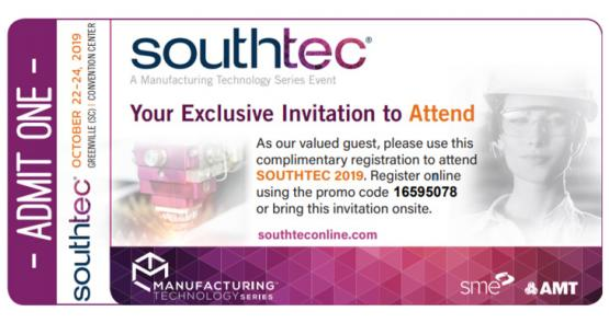 TECLA invites You to SOUTHTEC 2019 Trade Show in Greenville, SC – Oct 22-24, 2019